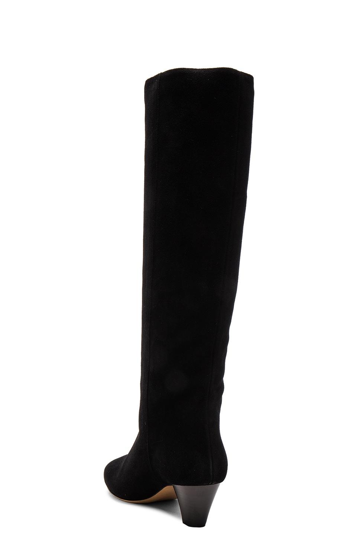 Image 3 of Isabel Marant Etoile Robby New Velvet Boots in Black