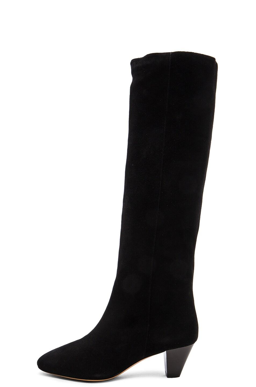 Image 5 of Isabel Marant Etoile Robby New Velvet Boots in Black