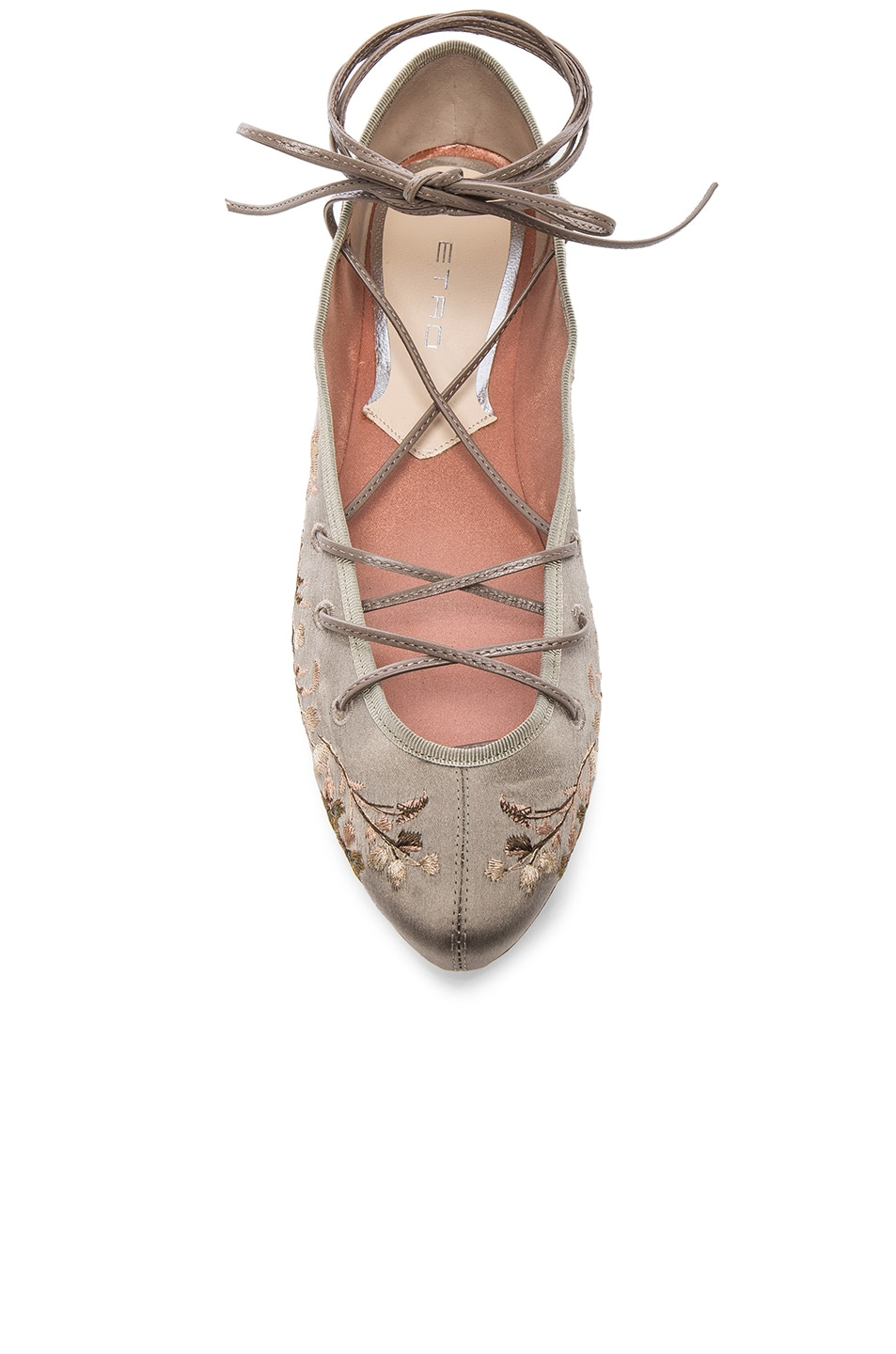 Image 4 of Etro Ballerina Flats in Taupe