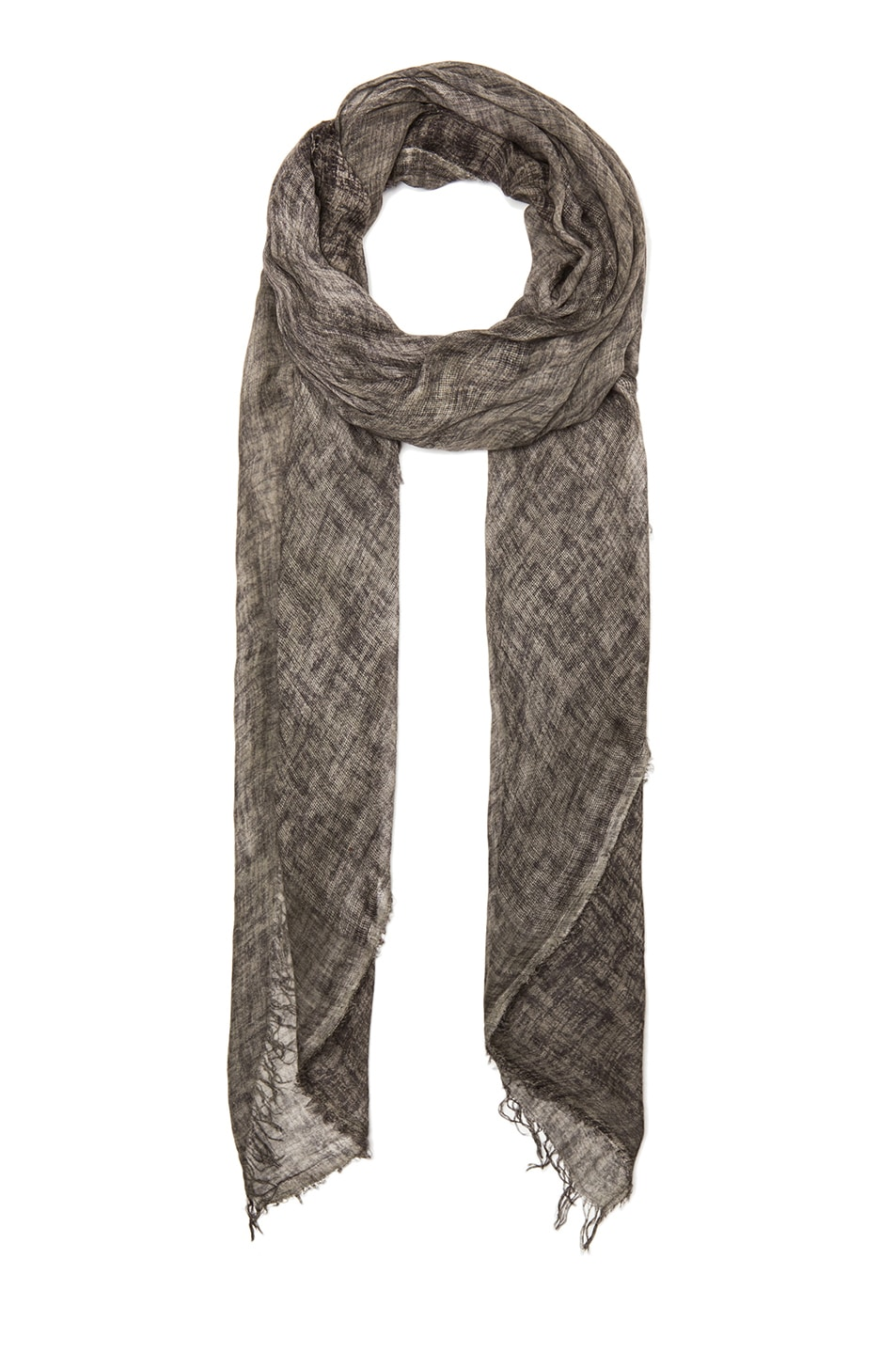 Image 1 of Faliero Sarti Grattino Modal-Blend Scarf in Grey & Black