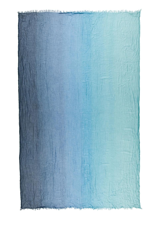 Image 2 of Faliero Sarti Ginevra Silk Ombre Scarf in Aqua