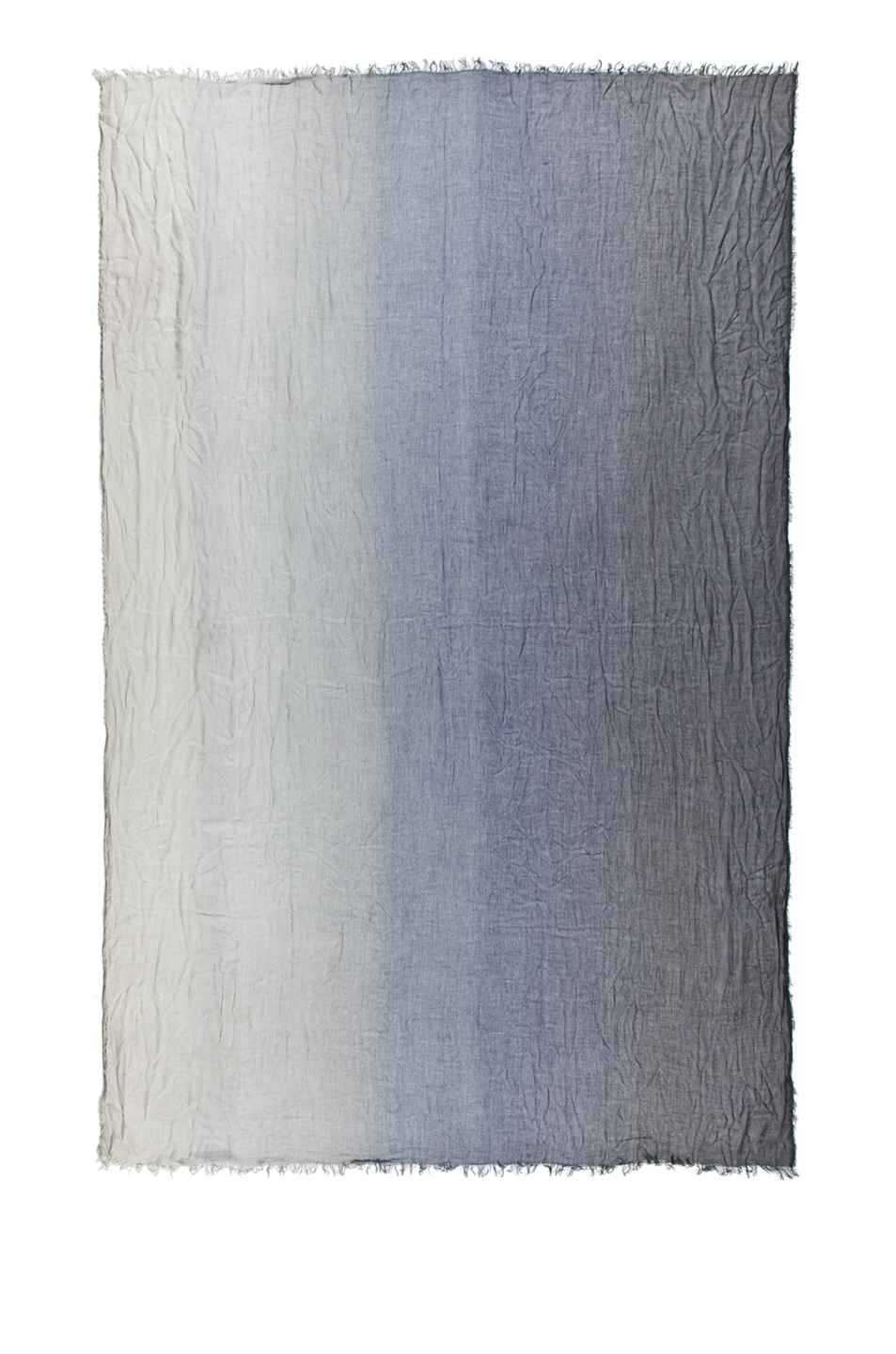 Image 2 of Faliero Sarti Ginevra Silk Ombre Scarf in Grey & Navy