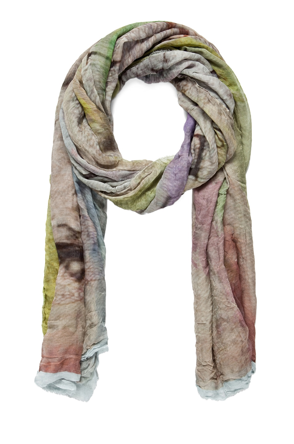 Image 1 of Faliero Sarti Money Silk Scarf in Lime