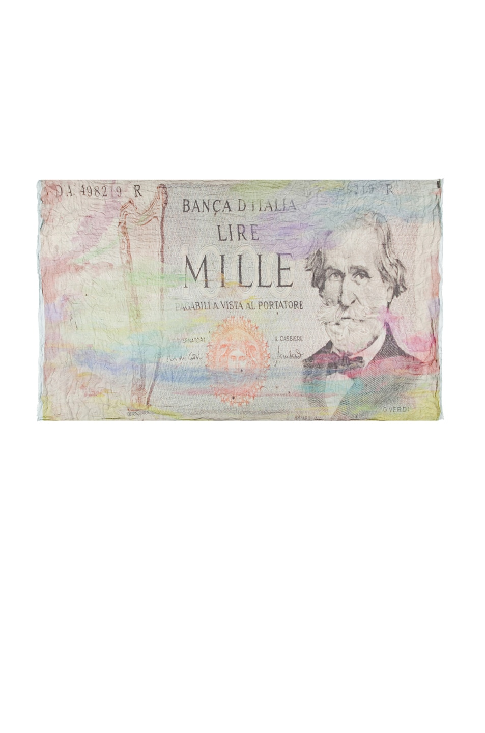 Image 2 of Faliero Sarti Money Silk Scarf in Lime