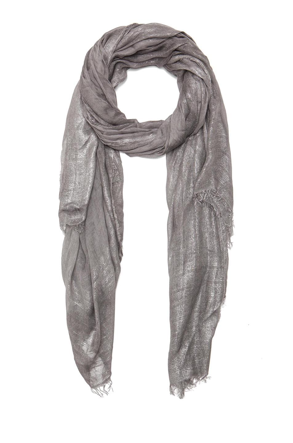 Image 1 of Faliero Sarti Mita Modal-Blend Scarf in Grey & Silver