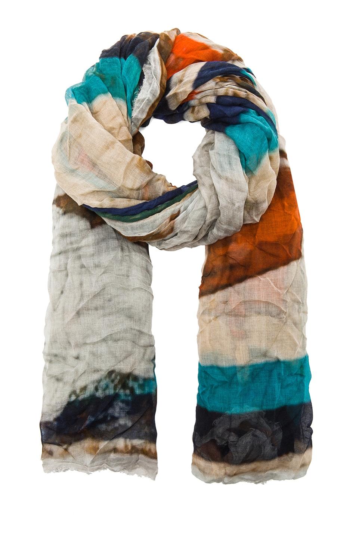 Image 2 of Faliero Sarti Bollicine Modal-Blend Scarf in Gandhi