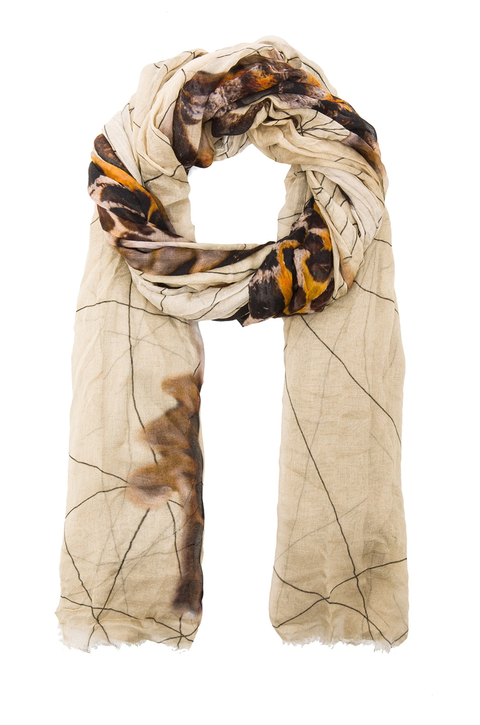 Image 2 of Faliero Sarti Beatles Modal-Blend Scarf in Taupe