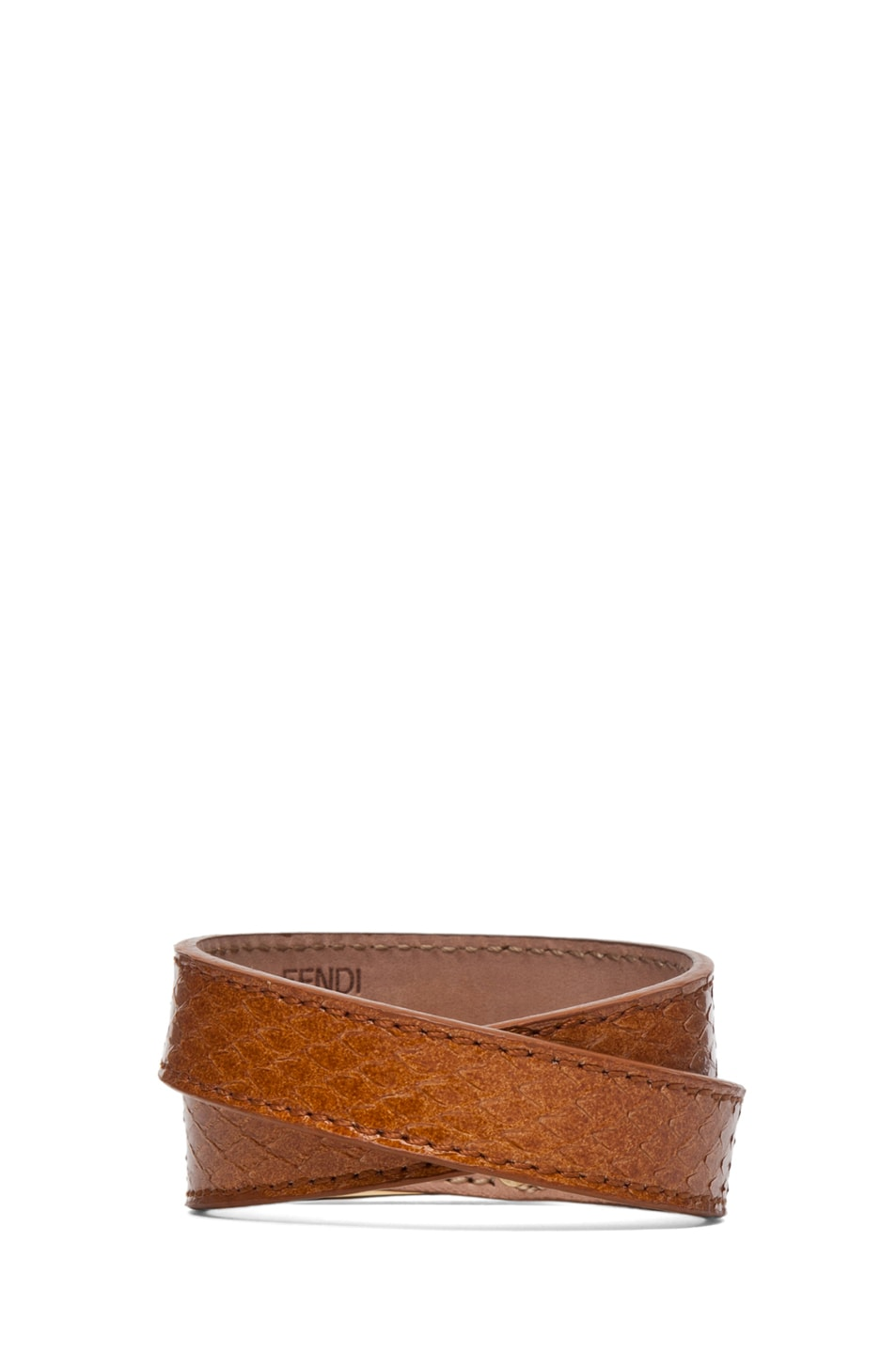 Image 3 of Fendi Wrapped Bracelet in Tan