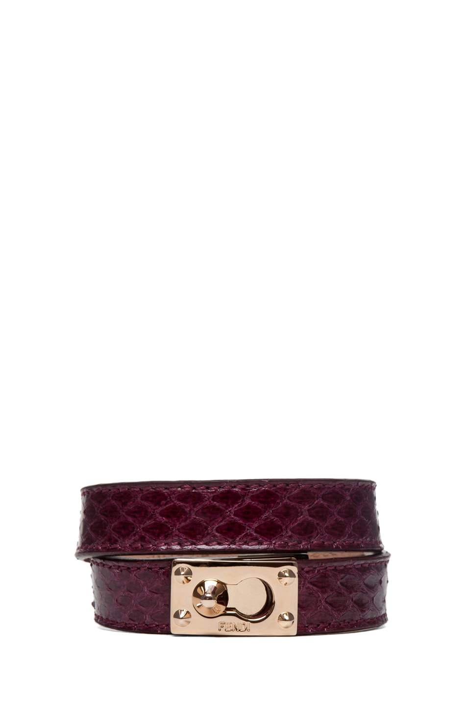 Image 1 of Fendi Wrapped Bracelet in Burgundy