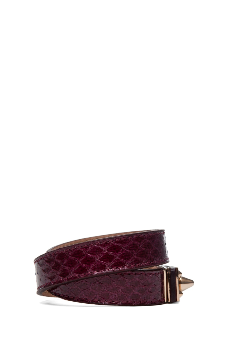 Image 2 of Fendi Wrapped Bracelet in Burgundy