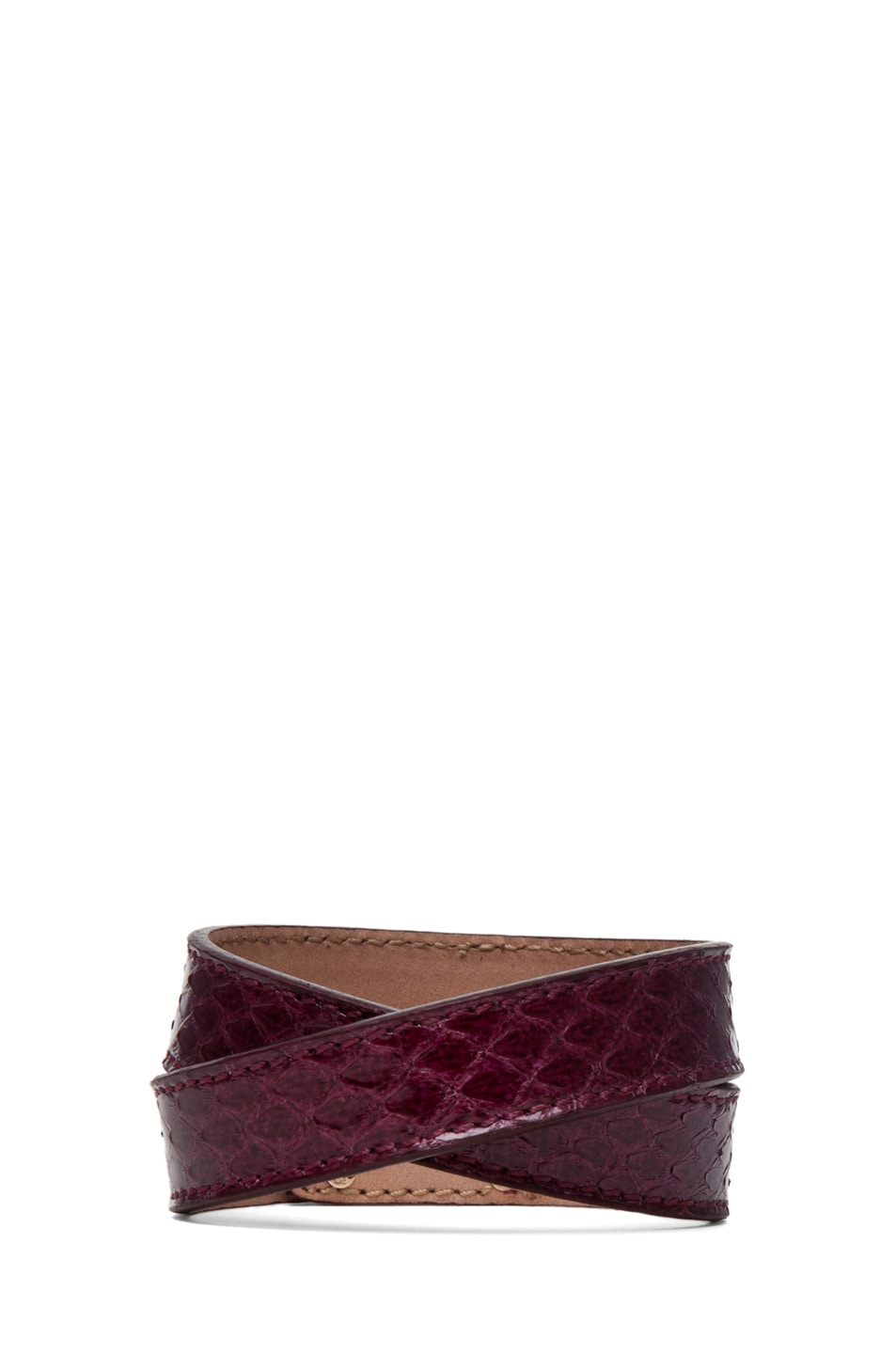 Image 3 of Fendi Wrapped Bracelet in Burgundy