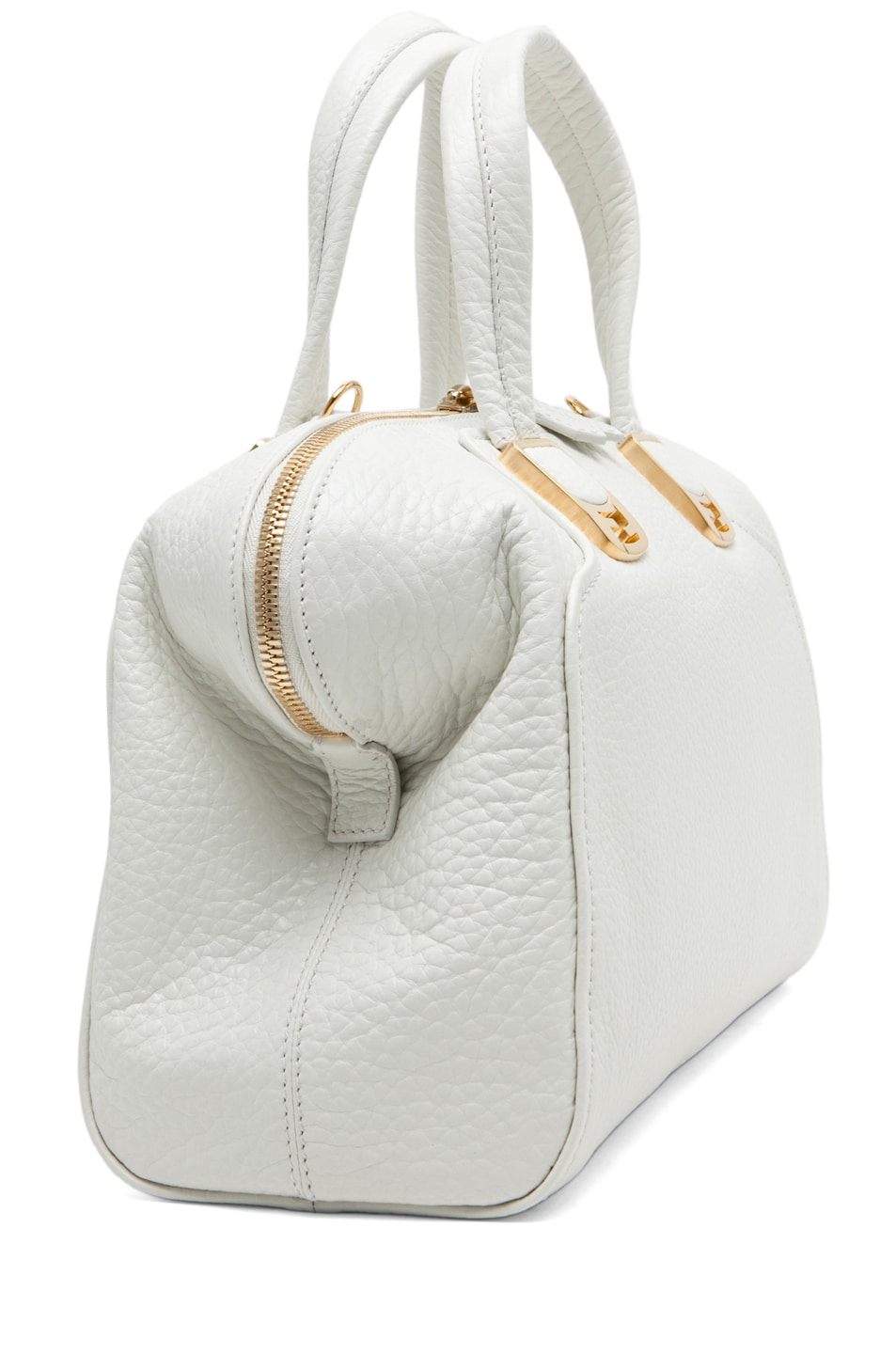 Image 3 of Fendi Medium Satchel Bag in White