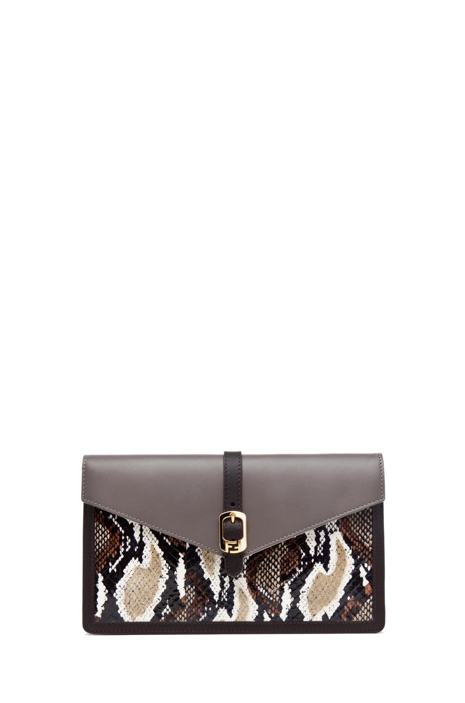 Image 1 of Fendi Envelope Purse in Grey Snake