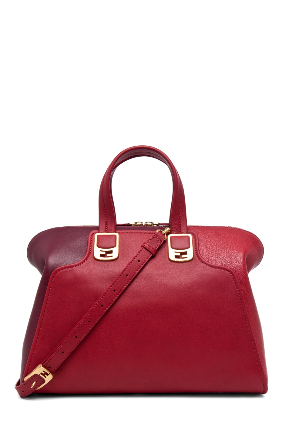 Image 1 of Fendi Chameleon Duffle in Red