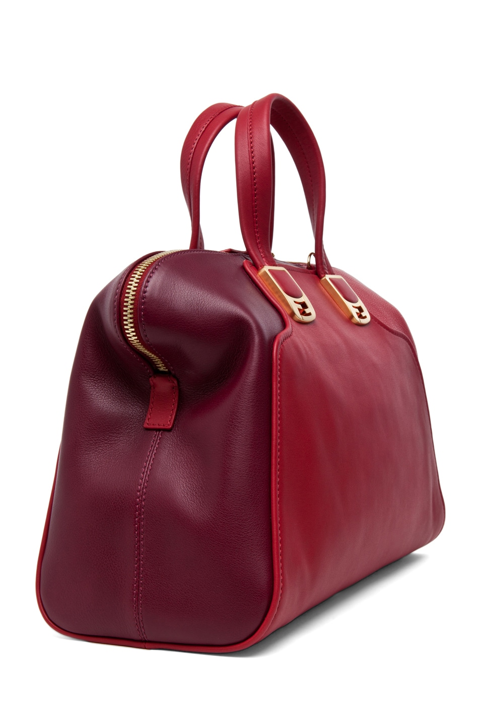 Image 3 of Fendi Chameleon Duffle in Red
