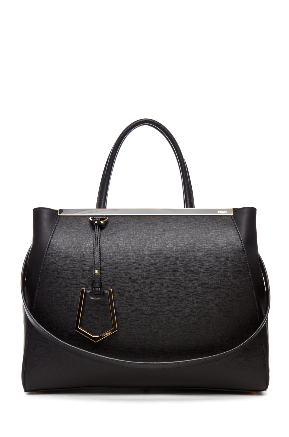 Image 1 of Fendi Medium Shopper Bag in Black