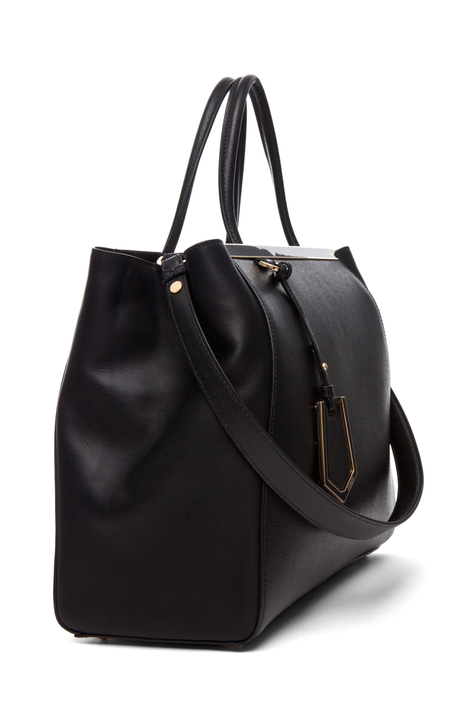 Image 3 of Fendi Medium Shopper Bag in Black