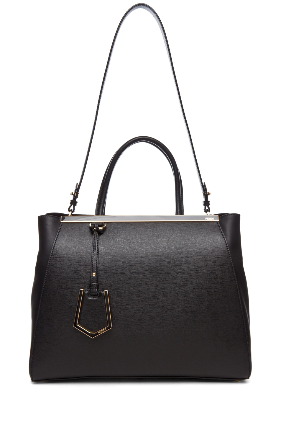 Image 5 of Fendi Medium Shopper Bag in Black