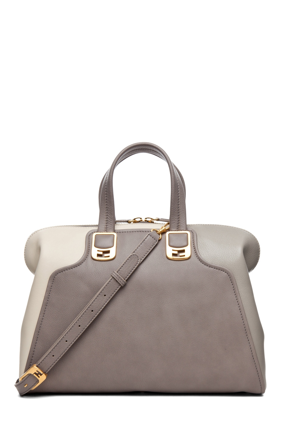 Image 1 of Fendi Duffle Chameleon in Grey & Cream