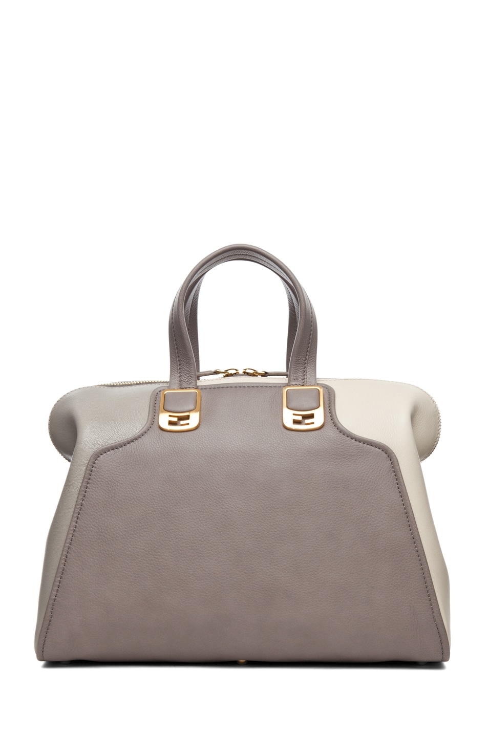 Image 2 of Fendi Duffle Chameleon in Grey & Cream