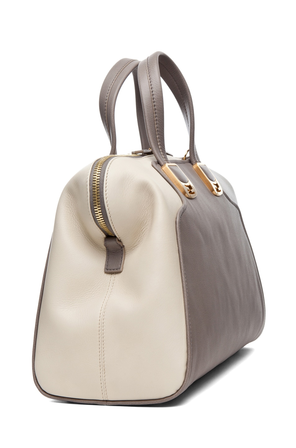 Image 3 of Fendi Duffle Chameleon in Grey & Cream