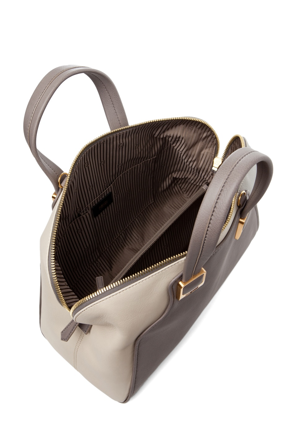 Image 4 of Fendi Duffle Chameleon in Grey & Cream