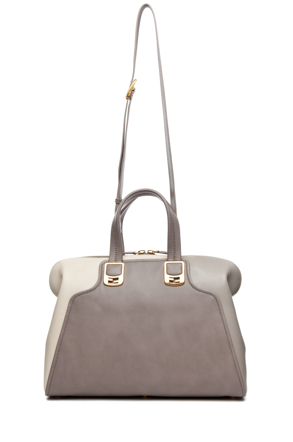 Image 5 of Fendi Duffle Chameleon in Grey & Cream