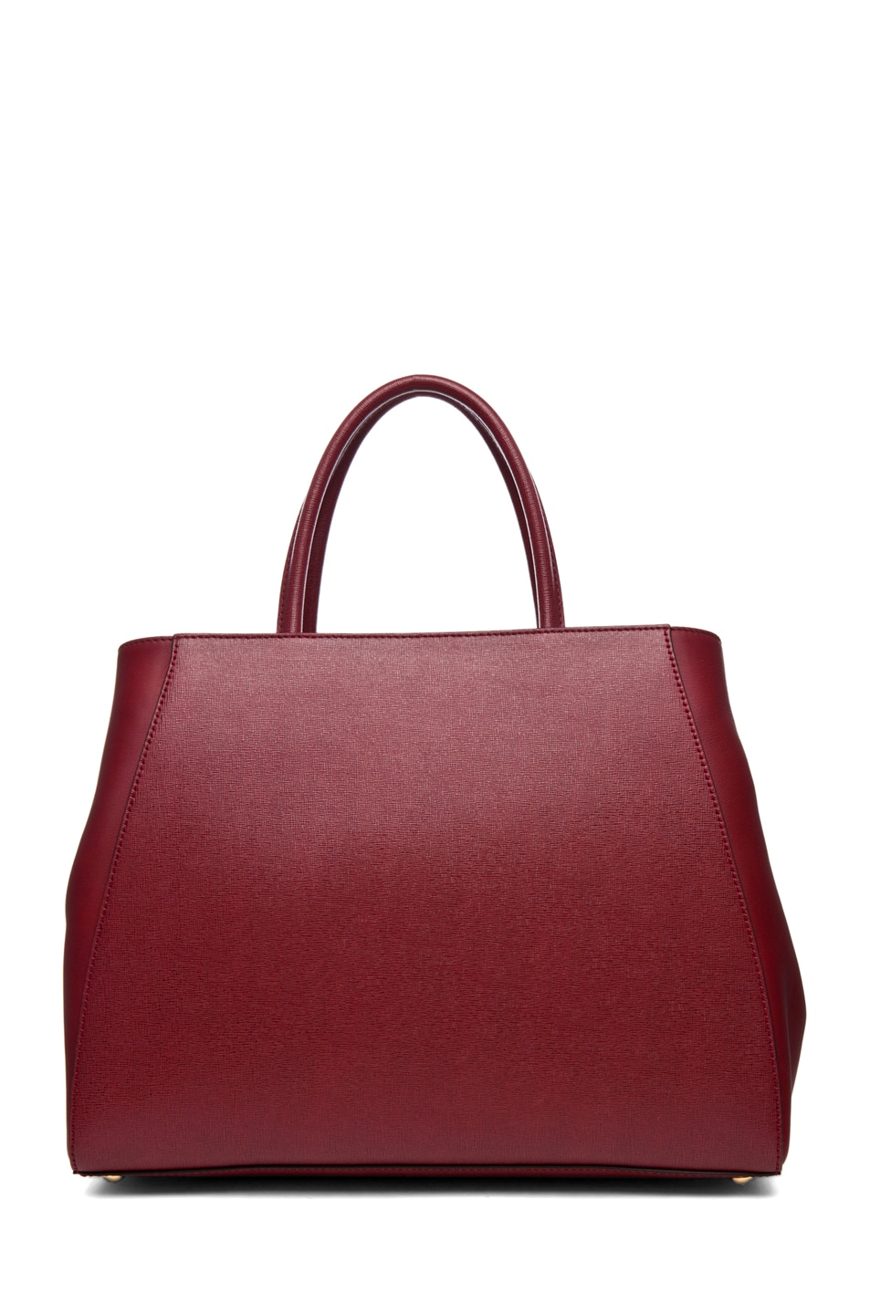 Image 2 of Fendi Medium Shopper Bag in Dark Cherry