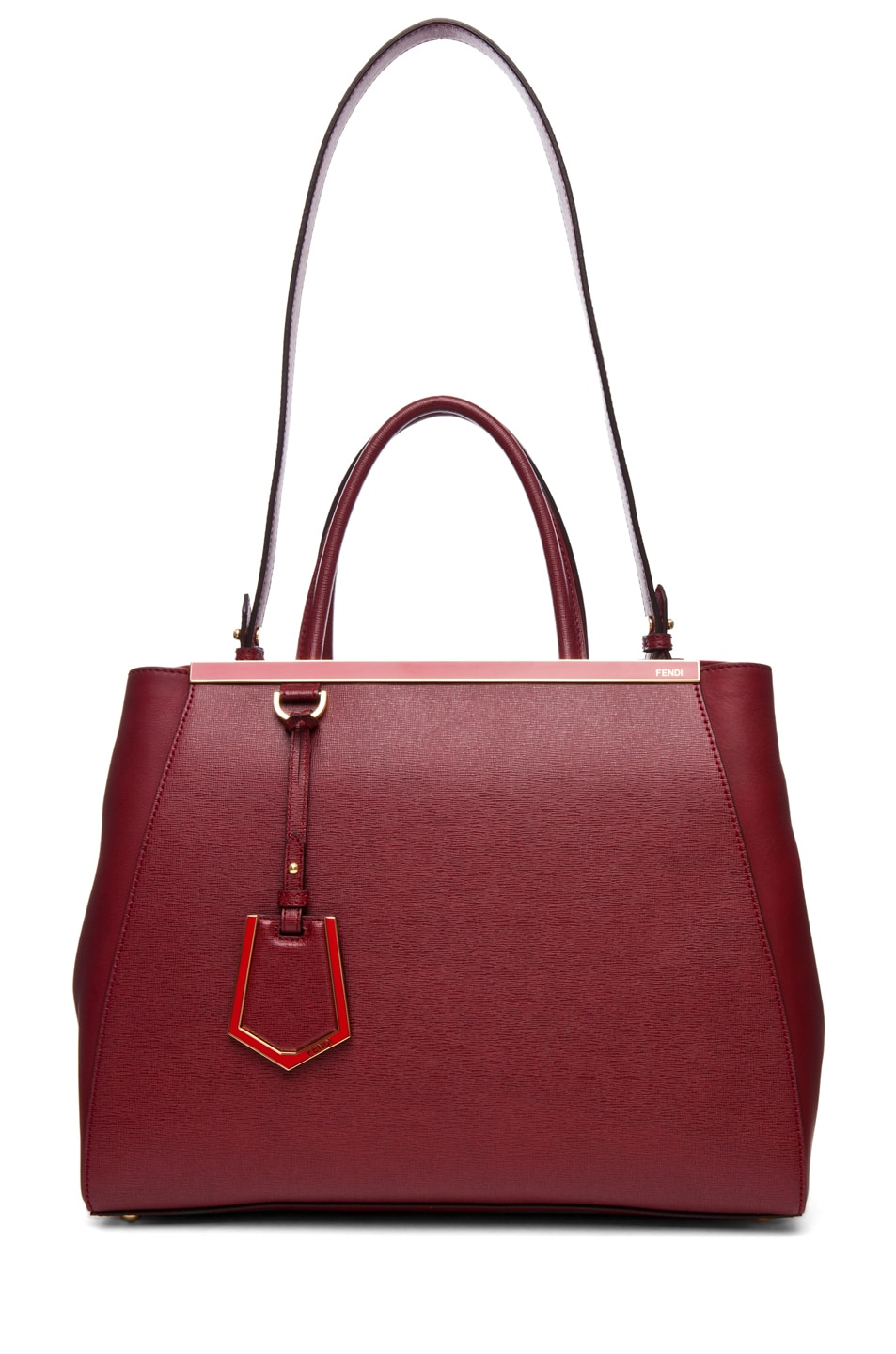 Image 5 of Fendi Medium Shopper Bag in Dark Cherry