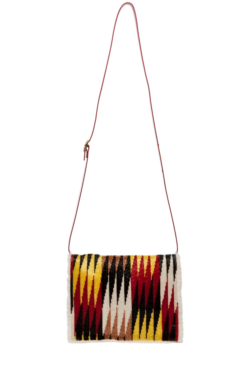 Image 5 of Fendi Daisy Shoulder Bag with Mink Fur in Red Multi