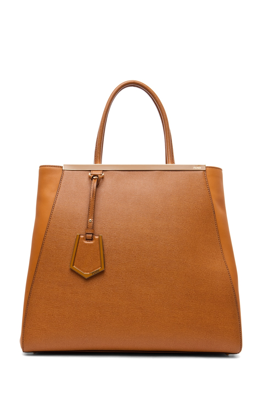 Image 1 of Fendi Large Shopper Bag in Dark Orange