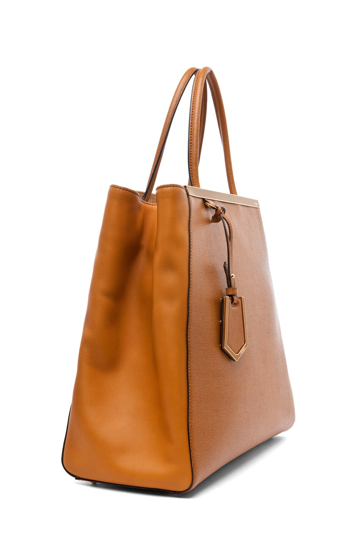 Image 3 of Fendi Large Shopper Bag in Dark Orange