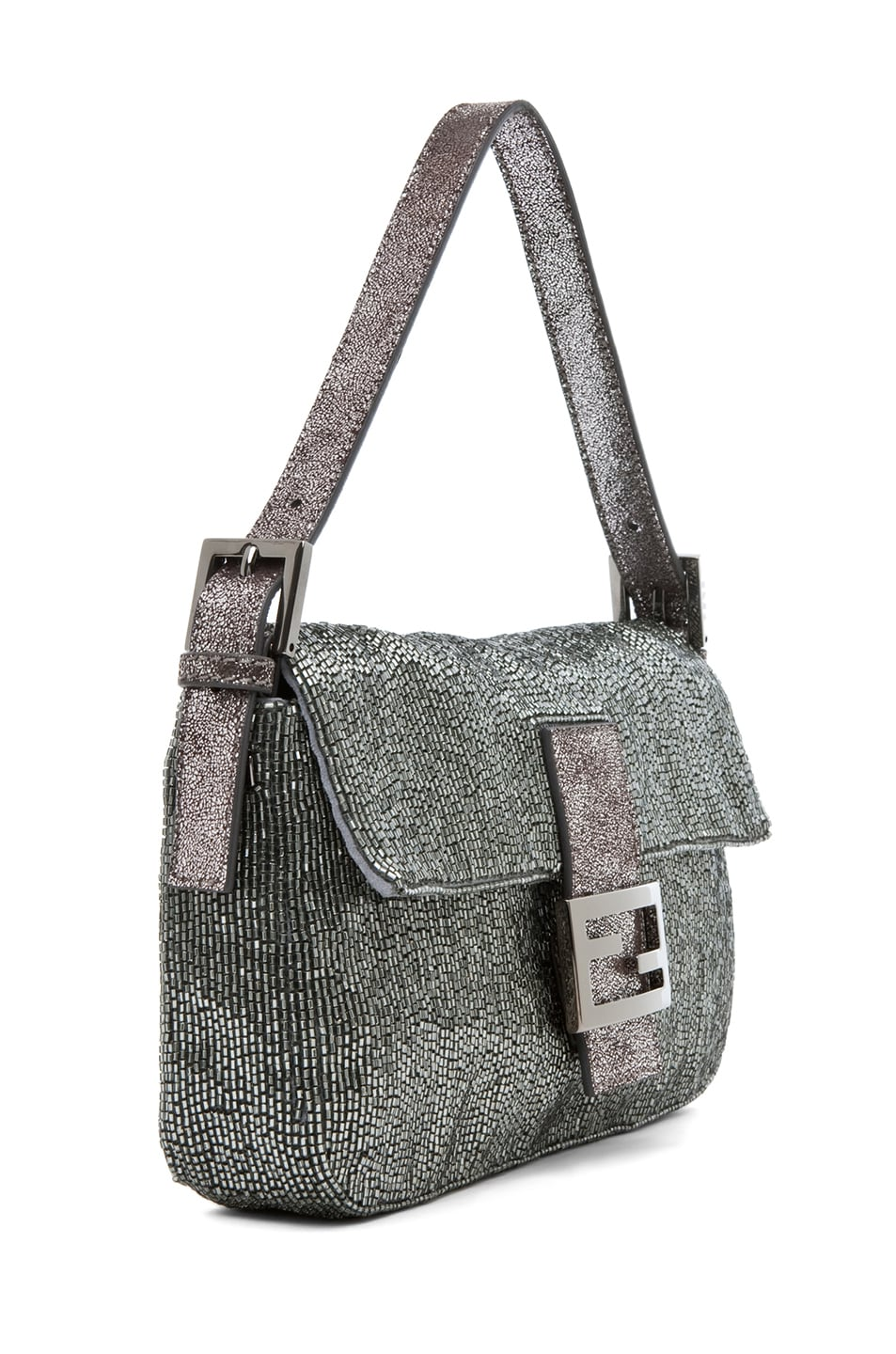 Image 3 of Fendi Baguette in Pewter