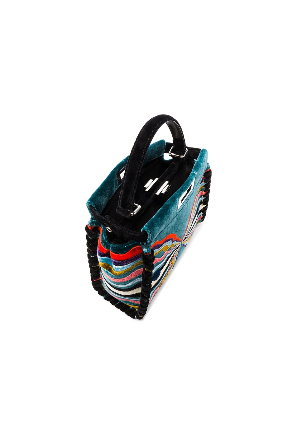 Image 4 of Fendi Hypnogarden Embroidered Regular Peekaboo in Multicolor & Black Palladium