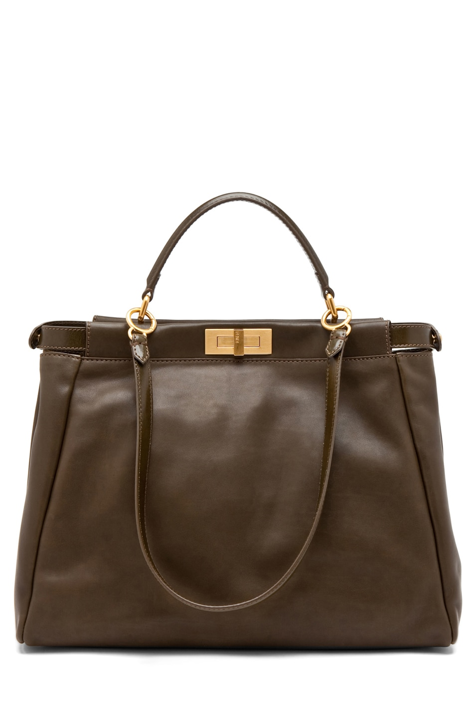 Image 1 of Fendi Peekaboo Handbag in Olive