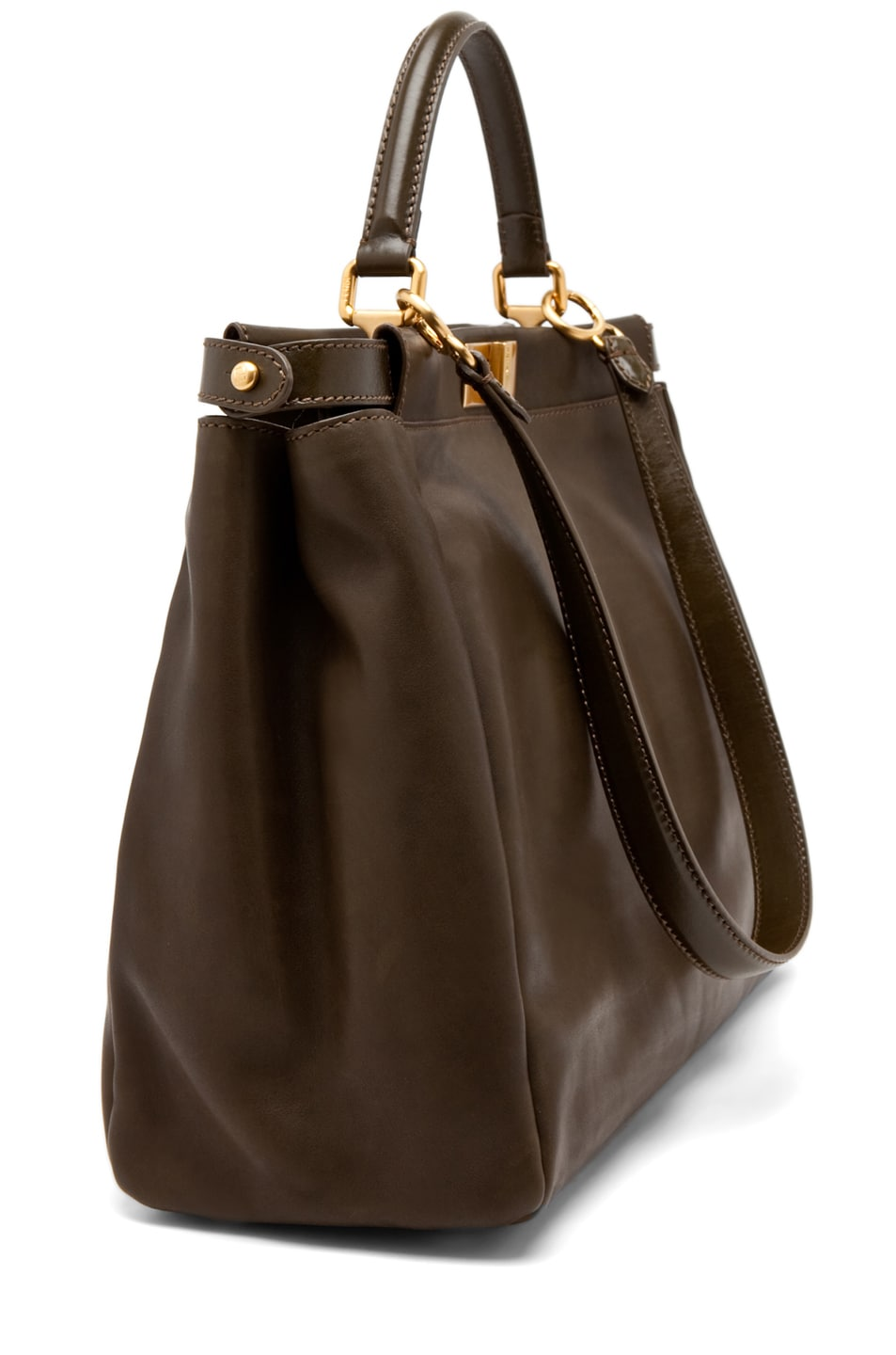 Image 3 of Fendi Peekaboo Handbag in Olive