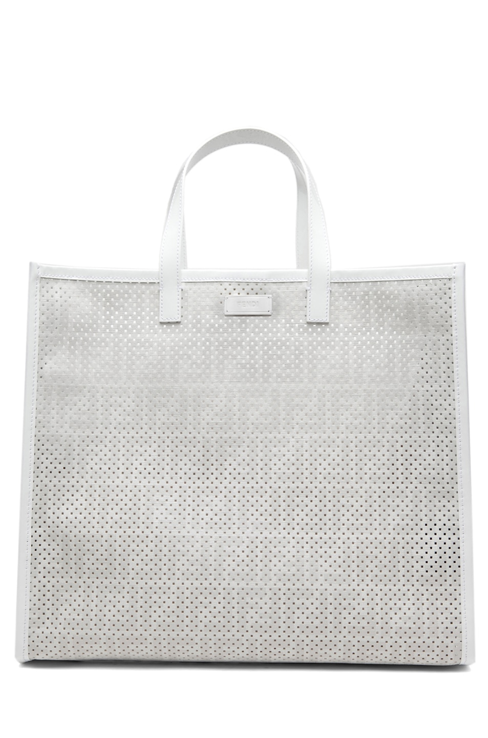 Image 1 of Fendi Shopping Tote in White