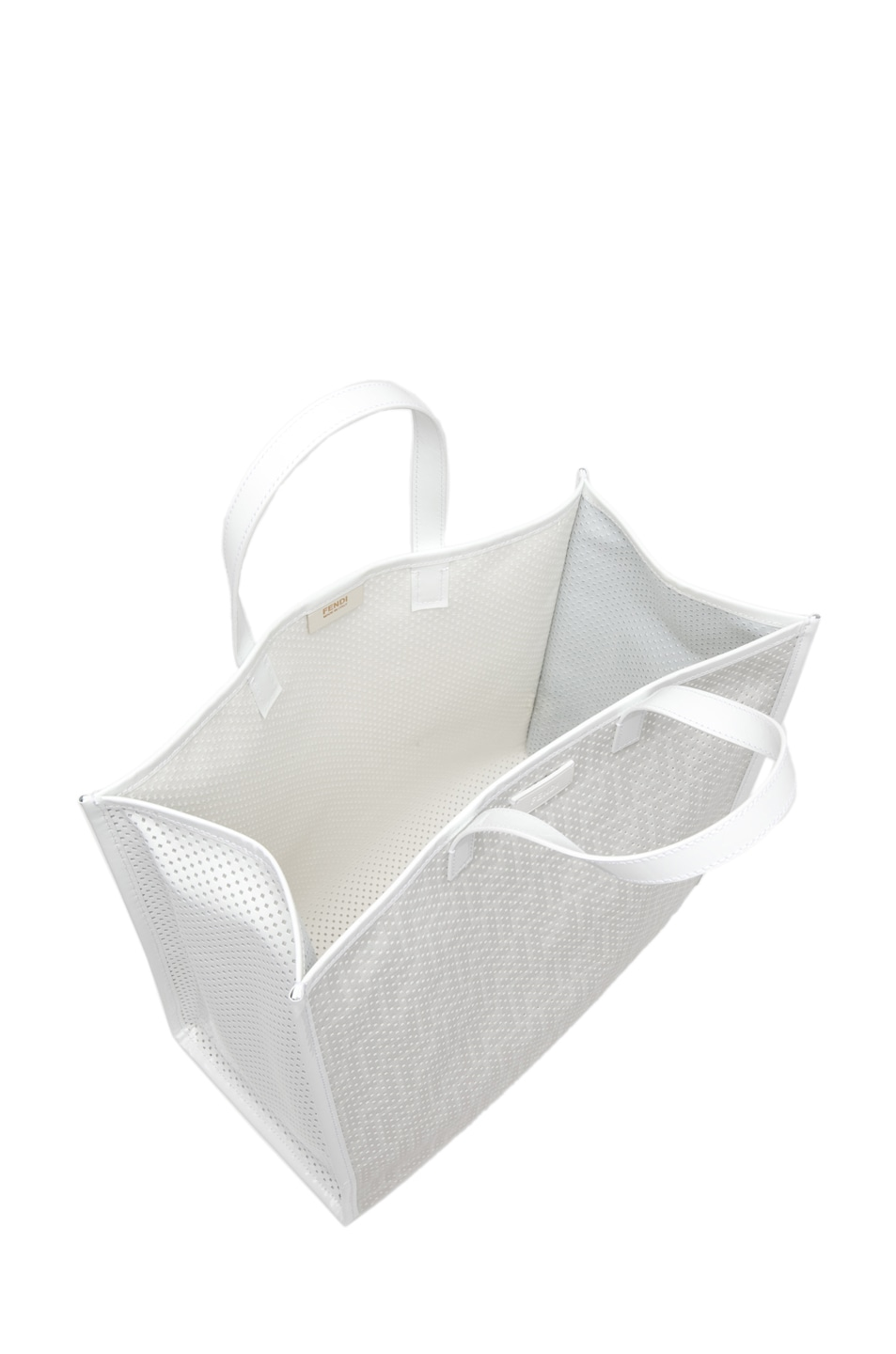Image 3 of Fendi Shopping Tote in White