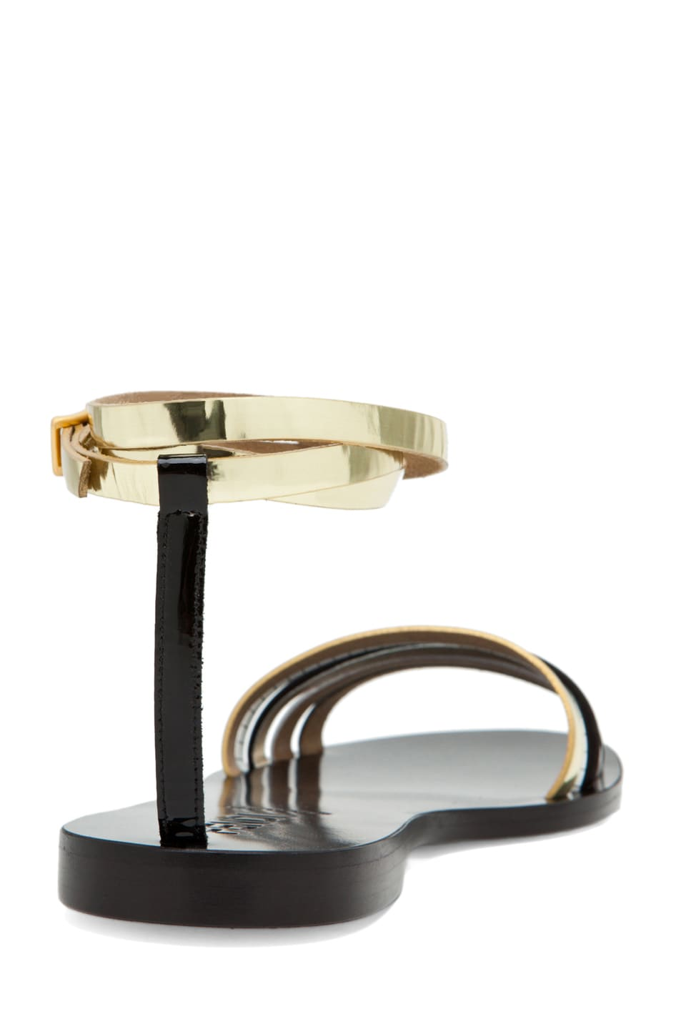 Image 4 of Fendi Strappy Sandal in Black/Silver