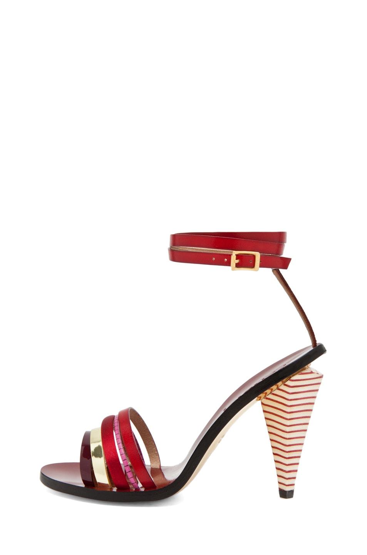Image 1 of Fendi Mid Heel in Red Multi