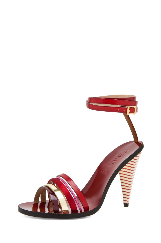 Image 2 of Fendi Mid Heel in Red Multi