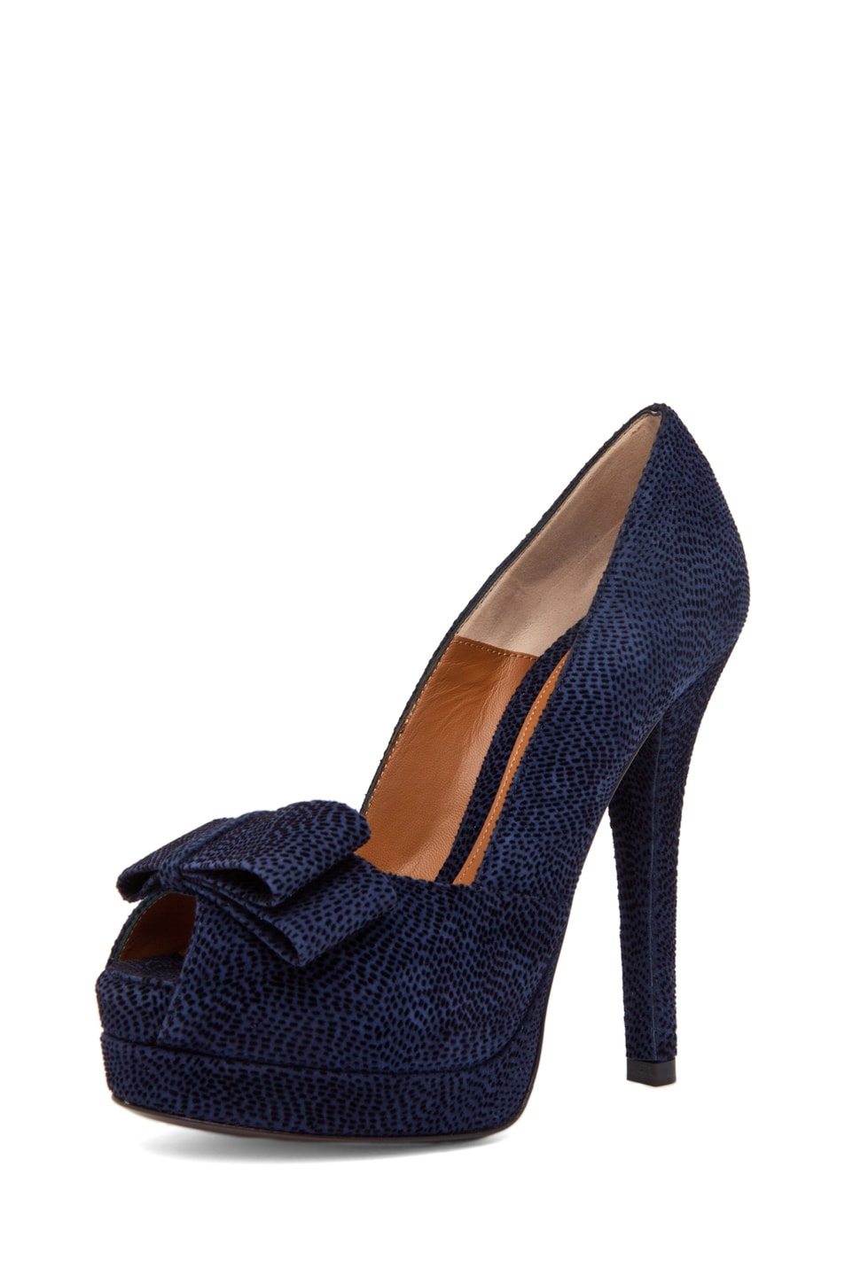Image 2 of Fendi Bow Pump in Navy