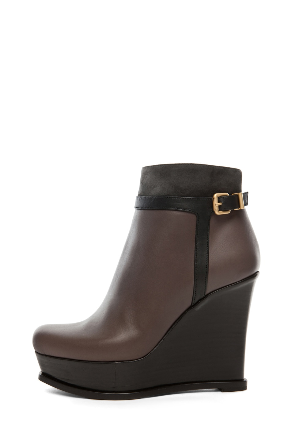 Image 1 of Fendi Fendista Wedge Bootie in Grey
