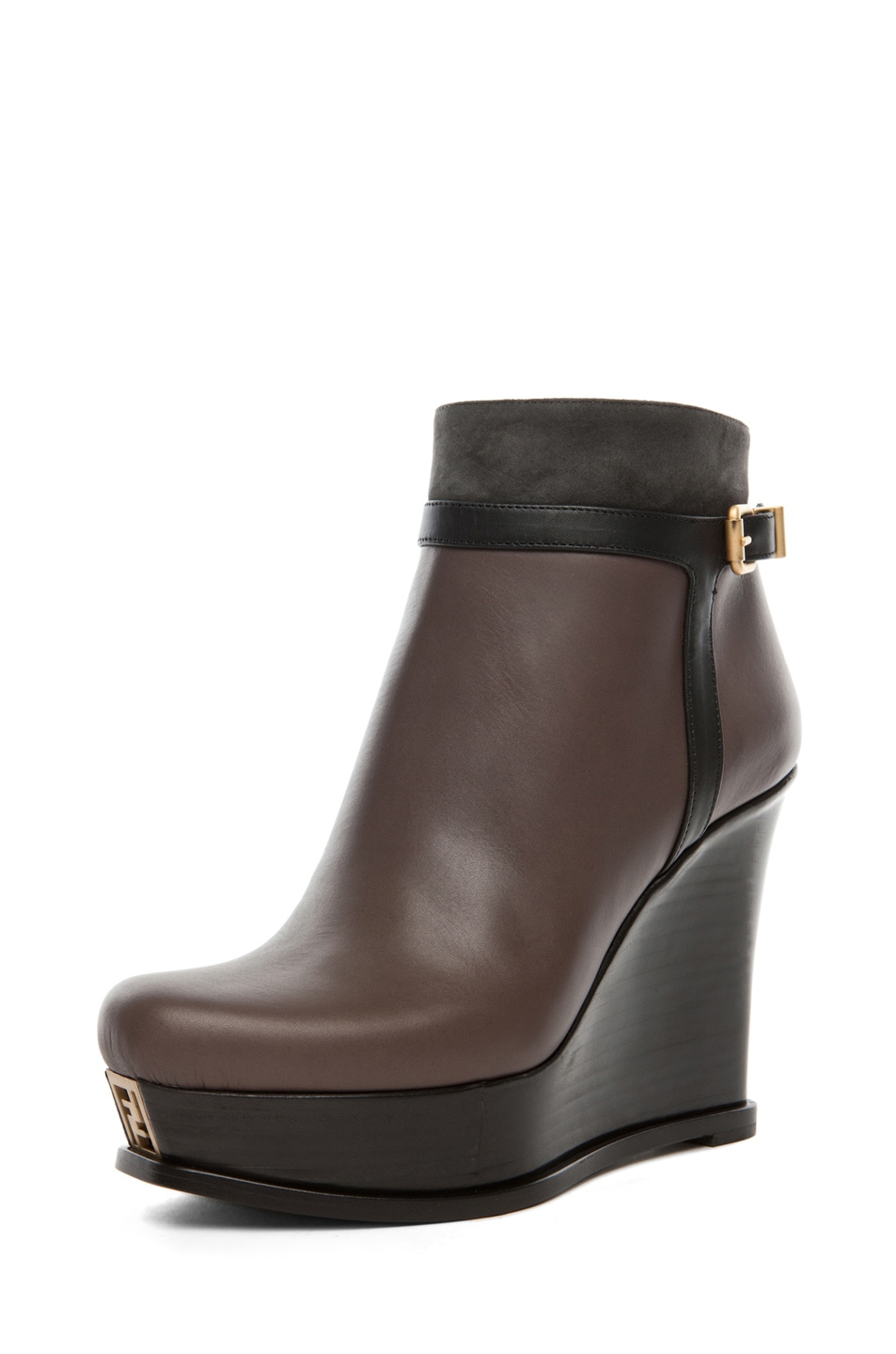 Image 2 of Fendi Fendista Wedge Bootie in Grey