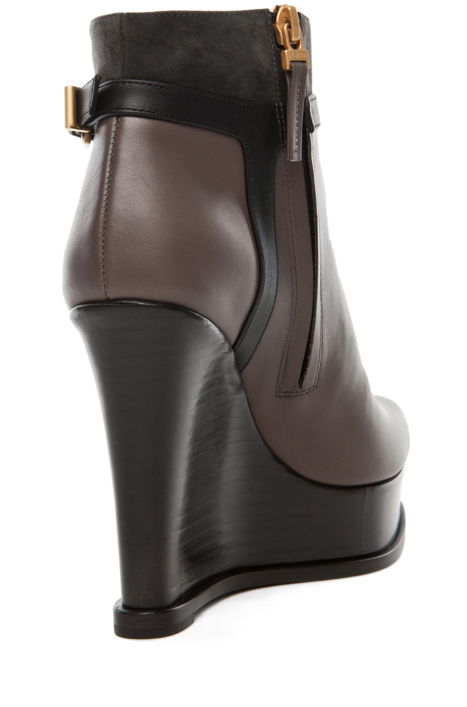 Image 3 of Fendi Fendista Wedge Bootie in Grey