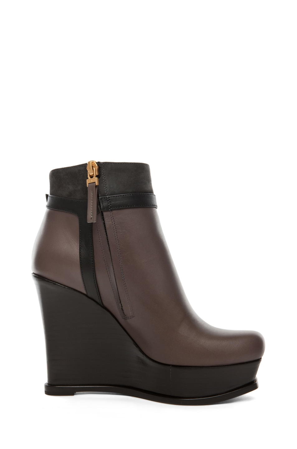 Image 5 of Fendi Fendista Wedge Bootie in Grey