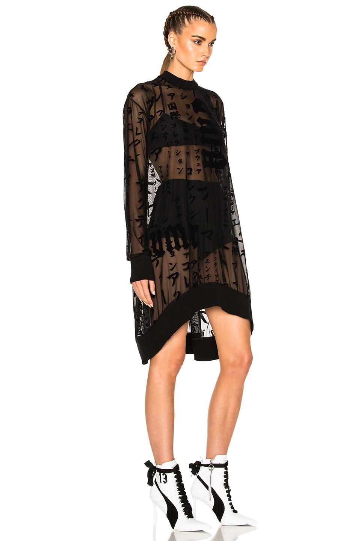 Image 3 of Fenty by Puma Flocked Tulle Mini Dress in Black