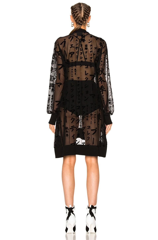 Image 4 of Fenty by Puma Flocked Tulle Mini Dress in Black