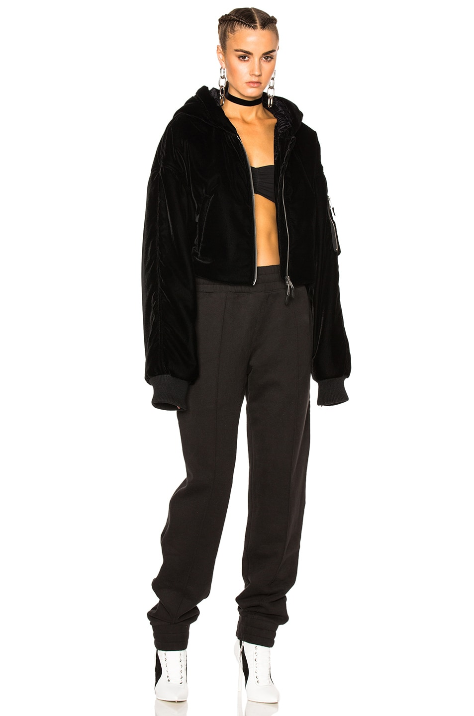 Image 2 of Fenty by Puma Cropped Bomber in Black