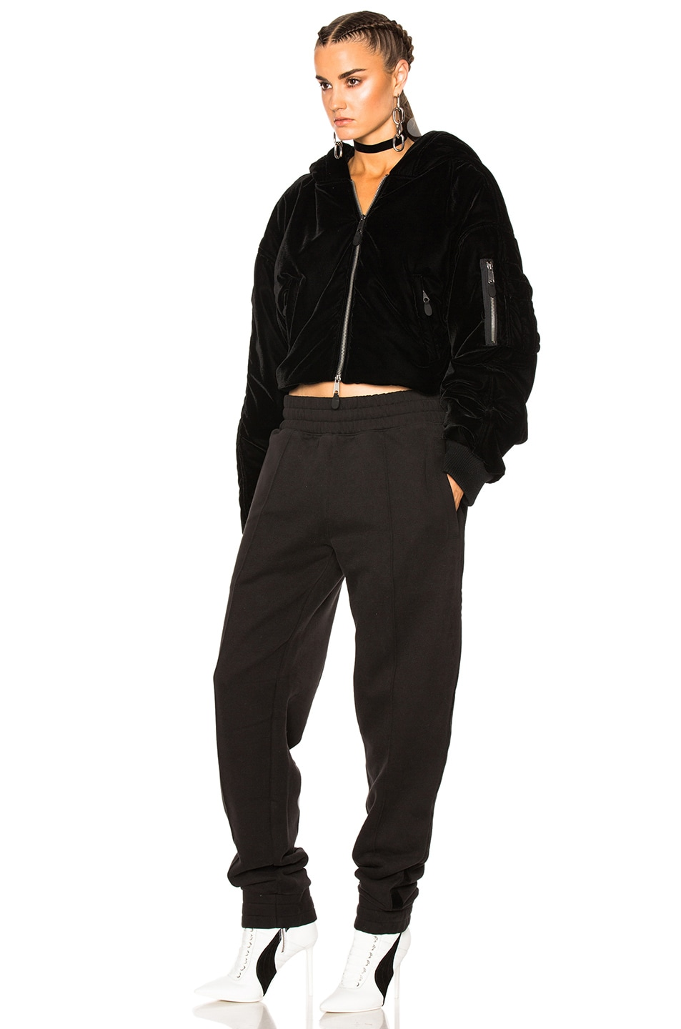 Image 3 of Fenty by Puma Cropped Bomber in Black